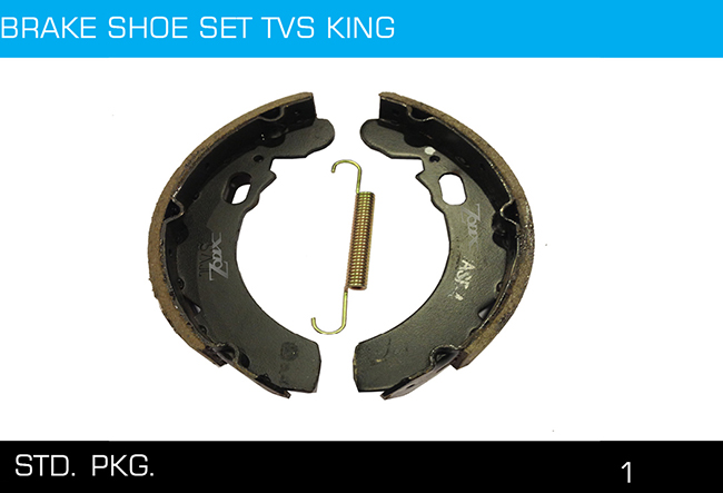 BRAKE SHOE SET TVS KING