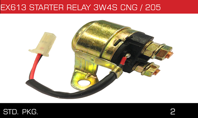EX613 STRATER RELAY 3W4S CNG 205