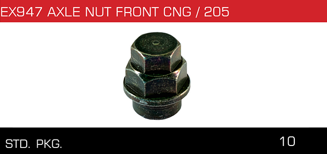 AXLE NUT FRONT CNG 205