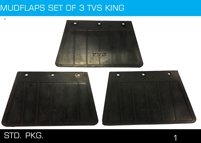 MUDFLAPS SET OF 3 TVS KING